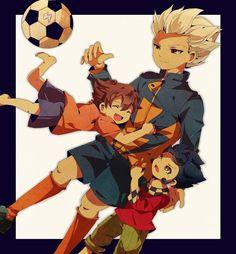 Goenji, Tennma, and Tsurugi