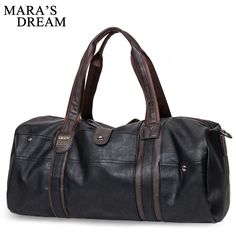 Mara s Dream 2018 Oil Wax Leather Handbags For Men Large-Capacity Portable  Shoulder Bags Men s a342db07f3