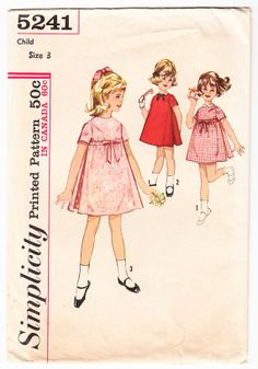 Vintage 1963 Simplicity 5241 Sewing Pattern by SewUniqueClassique, $10.00