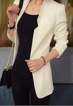 Casual blazer outfit for women (79)