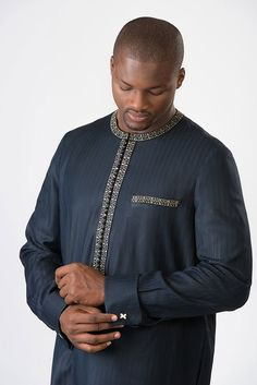 African Wear Styles For Men, African Shirts For Men, African Dresses Men, African Attire For Men, African Clothing For Men, Latest African Fashion Dresses, African Men Fashion, African Women, Kaftan Designs