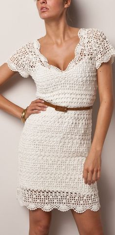 Cute and Lovely Crochet Dresses Patterns Design Ideas Part crochet dress pattern; crochet dress plus size; knitting dress for woman Sexy Summer Dresses, Day Dresses, Dress Summer, Crochet Vintage, Popular Dresses, Knit Dress, Crochet Dresses, Dress Lace, Dress Patterns