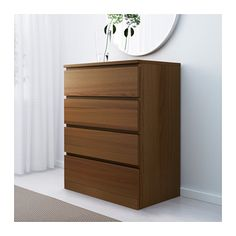 MALM 4-drawer chest - brown stained ash veneer - IKEA