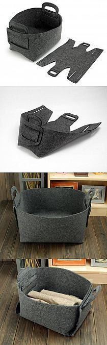 Diy bag felt totes Ideas for 2019 Felt Crafts, Fabric Crafts, Sewing Crafts, Diy And Crafts, Sewing Projects, Felt Diy, Diy Sac, Fabric Boxes, Fabric Basket