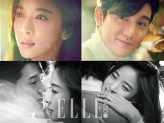 More Of Real Life Couple Lee Ki Woo & Lee Chung Ah For Elle Korea's March 2015 Issue | Couch Kimchi