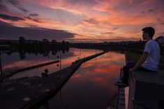 Sunset, Mosel, and Koblenz by Henry Tornow on 500px