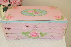 Gorgeous Jewel Keepsake Box HP Roses Chic Shabby Vintage Cottage Antique Garden | eBay