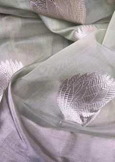 Beautiful Woven Chanderi Saree with Silver zari work