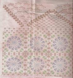 CROCHE COM RECEITA: Passadeira em crochê com flores