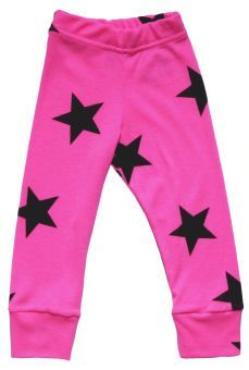 NUNUNU Leggings Star neon pink