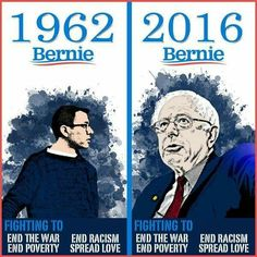Consistently on the side of the people. #feeltheBern -- Bernie Sanders 2016!