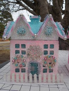 Gorgeous Pastel Christmas house by MarshmallowCreations - Etsy