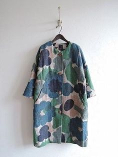mina perhonen by jill 60 Fashion, Kimono Fashion, Winter Fashion, Fashion Outfits, Womens Fashion, Mode Style, Style Me, Textiles, Cute Coats