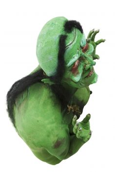 Green Looking Witch Like Creature by Victor Habbick