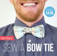 Annabel Wrigley teaches easy-to-sew, customizable bow tie for the special men in your life. This is an easy sewing project for a special homemade gift or fathers day present. Card Patterns, Dress Sewing Patterns, Sewing Patterns Free, Easy Sewing Projects, Sewing Hacks, Sewing Tutorials, Pattern Cutting, Pattern Making, Handmade Father's Day Gifts