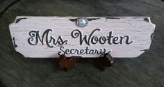 Hand painted desk name plate signs by Karen on etsy.com touchofjoydesigns