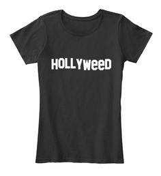 Hollyweed Black Camiseta de Mujer Front
