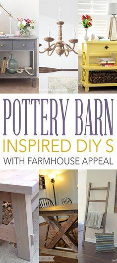 Pottery Barn Inspired DIYs with Farmhouse Appeal Andrea,14 Aug 02:22…