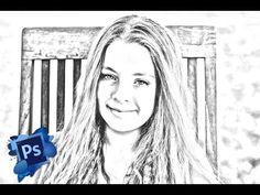 Como convertir una foto en dibujo a lapiz - Videotutorial Adobe Photoshop…