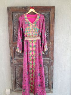 SILK burnout Morrocan style evening caftan by ArabianThreads, $450.00