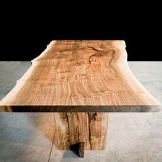 English walnut slab table. I want.