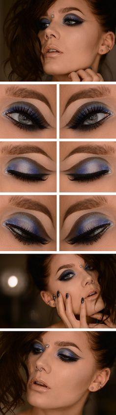 Fri.Dec.27/13, LINDA HALLBERG : TODAYS LOOK - DIAMONDS.  I've used … EYES: NYX HD eyeshadow base, Eleven 180 eyeshadow palette, MUS MS Deadly, MUS MS Smog, MUS eyepencil black, MUS Cake eyeliner black, House of lashes Noir Fairy, Wet n wild crystal liner Silver, Wet n wild crystal liner Diamond. LIPS: MUS Lipstick Bare, MUS Lipgloss wand Daisy. CHEEKS: MUS MS Smog, MUS Wonder powder sinai