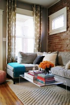 Clear Table - Living Room Small Living Room Design, Pictures, Remodel, Decor and Ideas