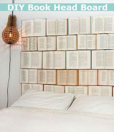 DIY Book Head Board