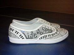Keds Custom Music Shoes Any Size