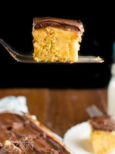 All the flavor of Boston Cream Pie in an easy to make cake! A cake mix makes this recipe easy, and vanilla pudding adds that custard feel. So good and easy! Poke Cake Recipes, Poke Cakes, Orange Creamsicle, Fudge, Graham, Boston Cream Poke Cake, Thanksgiving Deserts, Creamy Cucumbers, Oreo