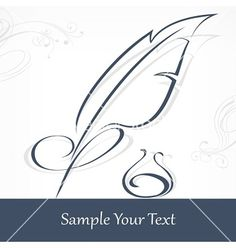 Quill pen and text vector art - Download vectors - 1766938