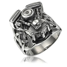 Valyria Jewelry Mens Stainless Steel Black Motorcycle Small Engine Ring Comes with a Free Gift Bag (11) Valyria http://www.amazon.com/dp/B00R96X8B6/ref=cm_sw_r_pi_dp_JMsBvb0WJC2E8