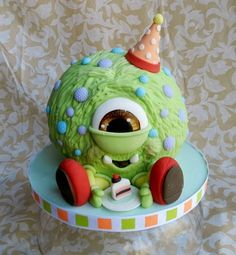reminds me of Monsters Inc. >Cake Wrecks - Home - Sunday Sweets Does the MonsterMash