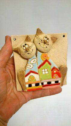 Kočičky+Keramický+obrázek+-+9+x+9+cm