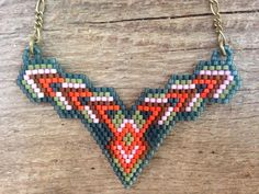 Nispannatara...seed bead necklace beick by DancingWillowDesign
