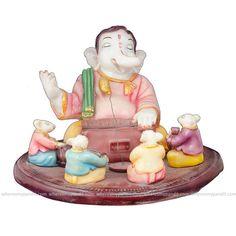 Ganeshji With Harmonium & 4 Rats - Ganesh Idols - Deity Idols - Religious Products This Ganeshji With Harmonium & 4 Rats is a statue of a grown Lord Ganesha playing music on harmonium. #festiveseason #tradition #wheresmypandit #Knowledge #follow4follow #diwalidecor #Celebrate #wheresmypandit #Ganeshchaturti #Ganesha #Ganpati #Ganesh #puja #rituals #Idol #Murti