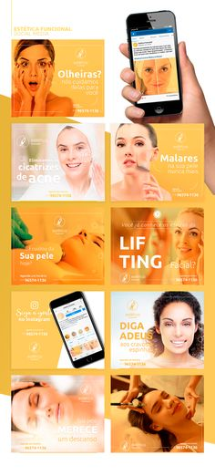 Social Media | Estética Funcional on Behance Social Media Ad, Social Media Banner, Social Media Design, Social Media Graphics, Social Media Marketing, Skin Care Clinic, Instagram Design, Photoshop Design, Clinic Design