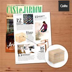 """A revista Casa & Jardim mencionou o gabinete da linha Basic na matéria """"25 Tecnologias a seu dispor"""", ressaltando o acabamento especial no móvel, que o torna resistente à água e à umidade. Tecnologia aliada ao design!"""