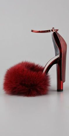 this is christmas, _still_ hoping for these....  Alexander Wang  Simona Fox High Heel Sandals