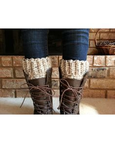 Premium 100% Wool Boot Cuffs that will hold up, stay in place and look great always! These are so great! If you don't have a pair, you need a pair! They are warm, fun and quite fashionable! Crocheted in a bulky wool, these are thick, cozy and extra warm! Sturdy, Durable, Perfect! I guarantee you will LOVE these Boot Cuffs!