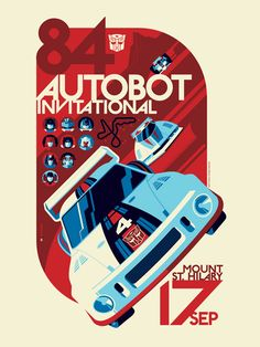 Acidfree Gallery LLC - AUTOBOT Invitational (variant colors) by Tom Whalen, $65.00 (http://www.acidfreegallery.com/autobot-invitational-variant-colors-by-tom-whalen/)