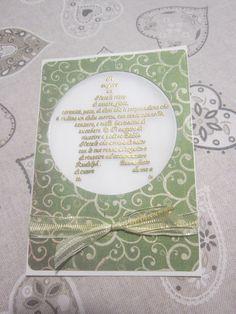 Christmas card - green & gold
