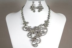 Butterfly Wedding Jewelry Set Bridal by WhiteAisleBoutique on Etsy, $82.00