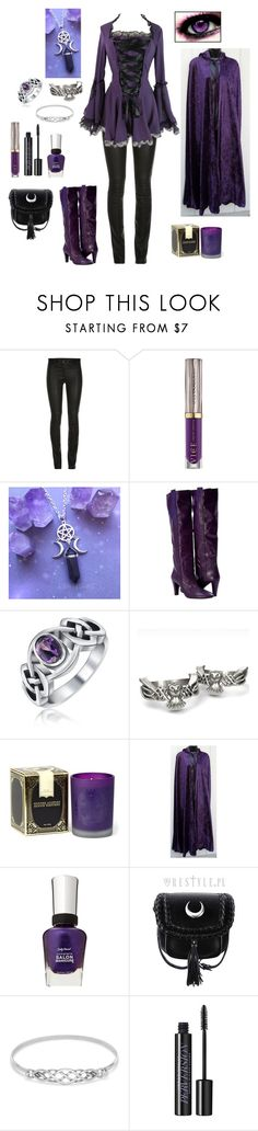 """""""Kiss my eyes and lay me to sleep"""" by darksnowwitch ❤ liked on Polyvore featuring ElleSD, Urban Decay, Bling Jewelry, Modern Alchemy and Sally Hansen"""