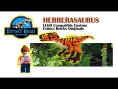 HERRERASAURUS LEGO Compatible Custom - Extinct Bricks Original #LEGO #JPGAME #HERRERASAURUS # - YouTube Lego Dinosaur, Lego Jurassic World, Artwork For Home, Lego House, Lego Creations, Lego City, Legos, Action Figures, Extinct