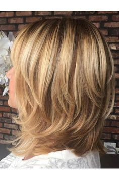 70 Brightest Medium Layered Haircuts to Light You Up Shoulder-Length Layered Brown Blonde Hair Medium Length Hair Cuts With Layers, Medium Hair Cuts, Medium Hair Styles, Curly Hair Styles, Medium Cut, Choppy Layers, Shoulder Length Hair Cuts With Bangs, Hairstyles Haircuts, Cool Hairstyles