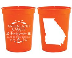 Family Vacation Cups State Vacation Cups by SipHipHooray on Etsy