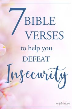 These 7 Bible verses about insecurity will help remind you of your worth. God tells us again and again how precious we are to Him and wonderfully He created us. Join us for these verses and more for your every life need. Christian Post, Christian Living, Christian Faith, Christian Women, Encouraging Bible Verses, Favorite Bible Verses, Bible Encouragement, Bible Scriptures, Scripture Study