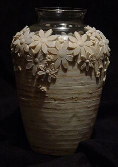 Vase designed by Gail Ritchey using Makin's Clay no bake air dry polymer clay