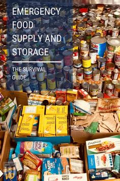 A natural disaster can happen at any time, and you should be ready to face it. Read our guide on emergency food supply which shows the best way to store food. #EmergencyFood #survival #guide #family #preparedness
